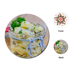 Potato Salad In A Jar On Wooden Playing Cards (round)  by wsfcow
