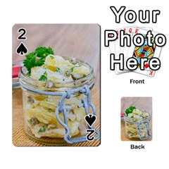 Potato Salad In A Jar On Wooden Playing Cards 54 Designs  by wsfcow
