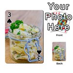 Potato salad in a jar on wooden Playing Cards 54 Designs  Front - Spade3
