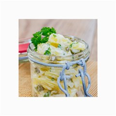 Potato Salad In A Jar On Wooden Collage Prints