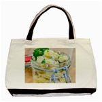 Potato salad in a jar on wooden Basic Tote Bag Front