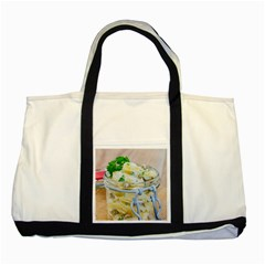 Potato salad in a jar on wooden Two Tone Tote Bag
