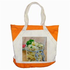 Potato Salad In A Jar On Wooden Accent Tote Bag by wsfcow