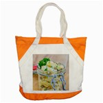 Potato salad in a jar on wooden Accent Tote Bag Front