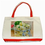 Potato salad in a jar on wooden Classic Tote Bag (Red) Front