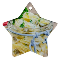 Potato Salad In A Jar On Wooden Star Ornament (two Sides)