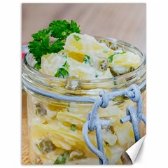 Potato salad in a jar on wooden Canvas 12  x 16