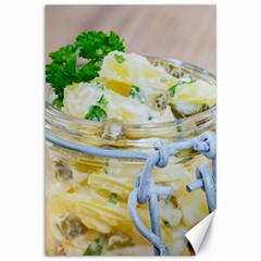 Potato salad in a jar on wooden Canvas 12  x 18