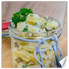 Potato Salad In A Jar On Wooden Canvas 20  X 20   by wsfcow