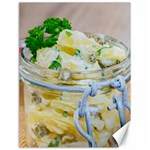 Potato salad in a jar on wooden Canvas 18  x 24   24 x18 Canvas - 1