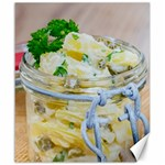 Potato salad in a jar on wooden Canvas 20  x 24   24 x20 Canvas - 1