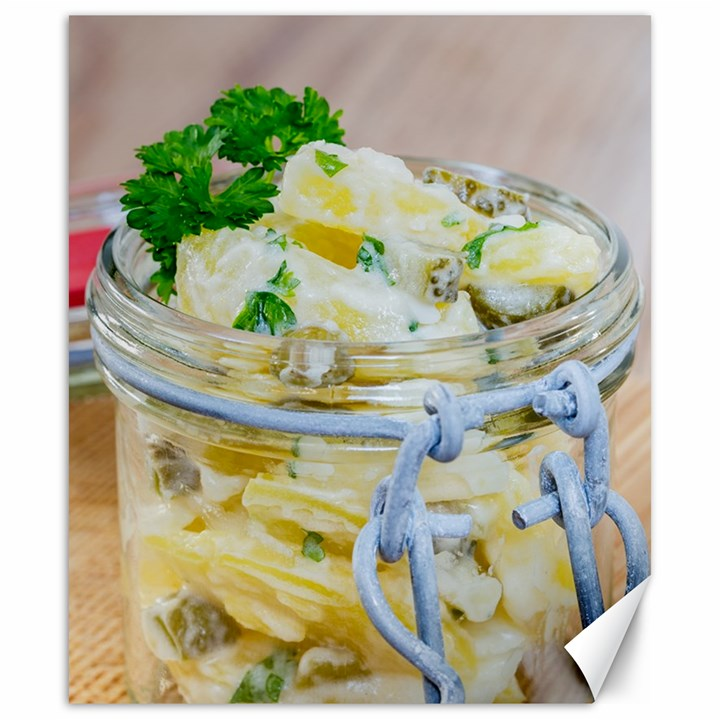 Potato salad in a jar on wooden Canvas 20  x 24