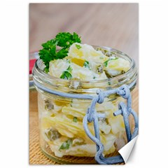 Potato salad in a jar on wooden Canvas 20  x 30