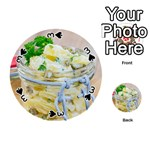 Potato salad in a jar on wooden Playing Cards 54 (Round)  Front - Spade3