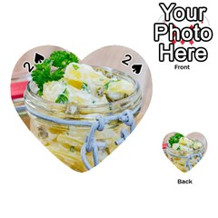 Potato Salad In A Jar On Wooden Playing Cards 54 (heart)