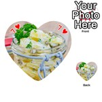 Potato salad in a jar on wooden Playing Cards 54 (Heart)  Front - Heart7