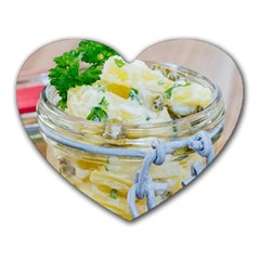 Potato Salad In A Jar On Wooden Heart Mousepads by wsfcow