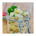 Potato salad in a jar on wooden Medium Glasses Cloth (2-Side) Front