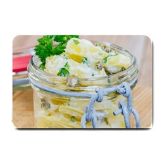 Potato Salad In A Jar On Wooden Small Doormat  by wsfcow