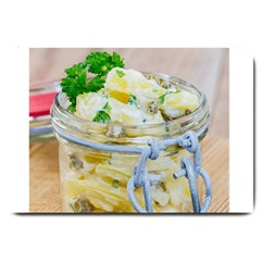 Potato Salad In A Jar On Wooden Large Doormat  by wsfcow