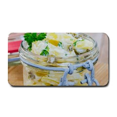 Potato salad in a jar on wooden Medium Bar Mats