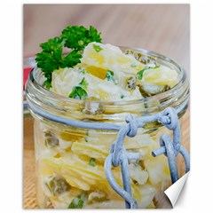 Potato Salad In A Jar On Wooden Canvas 11  X 14