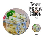 Potato salad in a jar on wooden Multi-purpose Cards (Round)  Back 24