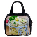 Potato salad in a jar on wooden Classic Handbags (2 Sides) Front