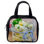 Potato salad in a jar on wooden Classic Handbags (2 Sides) Back