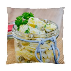 Potato salad in a jar on wooden Standard Cushion Case (Two Sides)