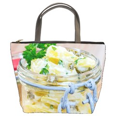 Potato Salad In A Jar On Wooden Bucket Bags by wsfcow