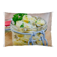 Potato salad in a jar on wooden Pillow Case
