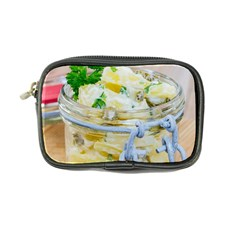 Potato Salad In A Jar On Wooden Coin Purse
