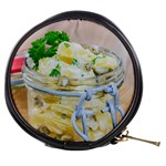 Potato salad in a jar on wooden Mini Makeup Bags Front