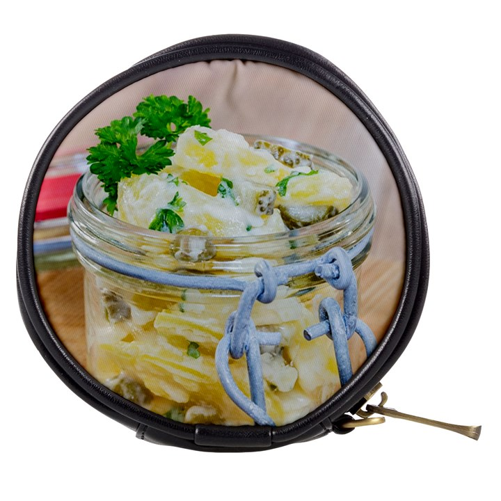 Potato salad in a jar on wooden Mini Makeup Bags