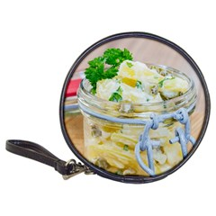 Potato salad in a jar on wooden Classic 20-CD Wallets