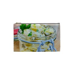 Potato Salad In A Jar On Wooden Cosmetic Bag (small)
