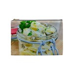Potato salad in a jar on wooden Cosmetic Bag (Medium)  Front