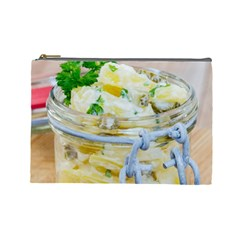 Potato Salad In A Jar On Wooden Cosmetic Bag (large)  by wsfcow