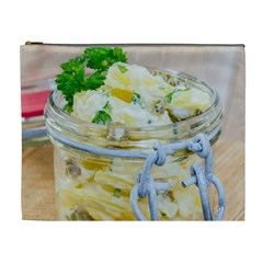 Potato salad in a jar on wooden Cosmetic Bag (XL)