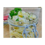 Potato salad in a jar on wooden Cosmetic Bag (XL) Back