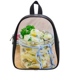 Potato salad in a jar on wooden School Bags (Small)