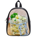 Potato salad in a jar on wooden School Bags (Small)  Front