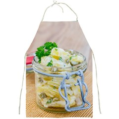 Potato Salad In A Jar On Wooden Full Print Aprons by wsfcow