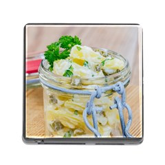 Potato salad in a jar on wooden Memory Card Reader (Square)