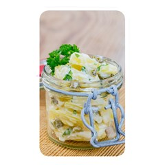 Potato salad in a jar on wooden Memory Card Reader