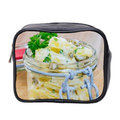 Potato salad in a jar on wooden Mini Toiletries Bag 2-Side