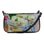 Potato salad in a jar on wooden Shoulder Clutch Bags Front