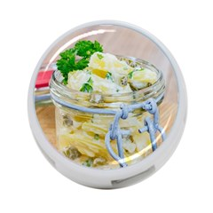 Potato salad in a jar on wooden 4-Port USB Hub (One Side)