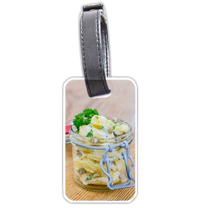 Potato salad in a jar on wooden Luggage Tags (One Side)